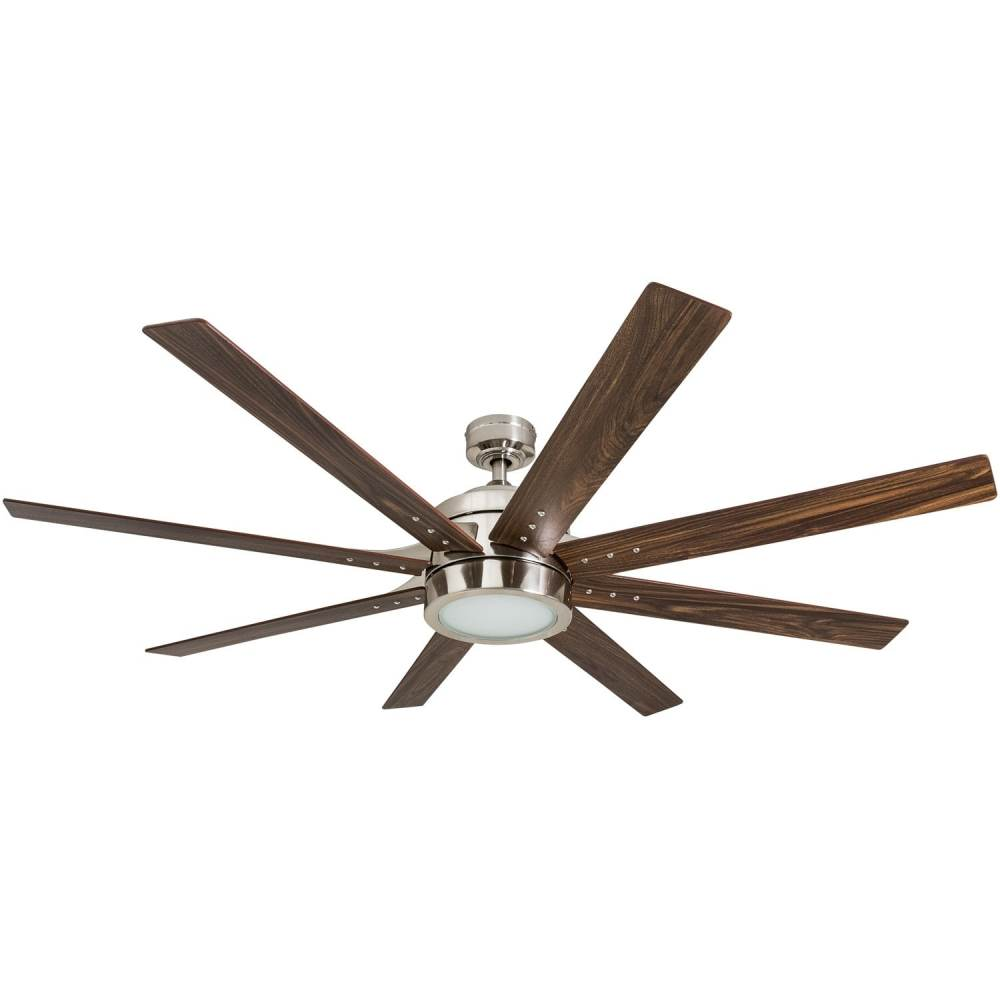 medium resolution of shop honeywell xerxes 62 brushed nickel led remote control ceiling fan 8 blade integrated light free shipping today overstock 25738545