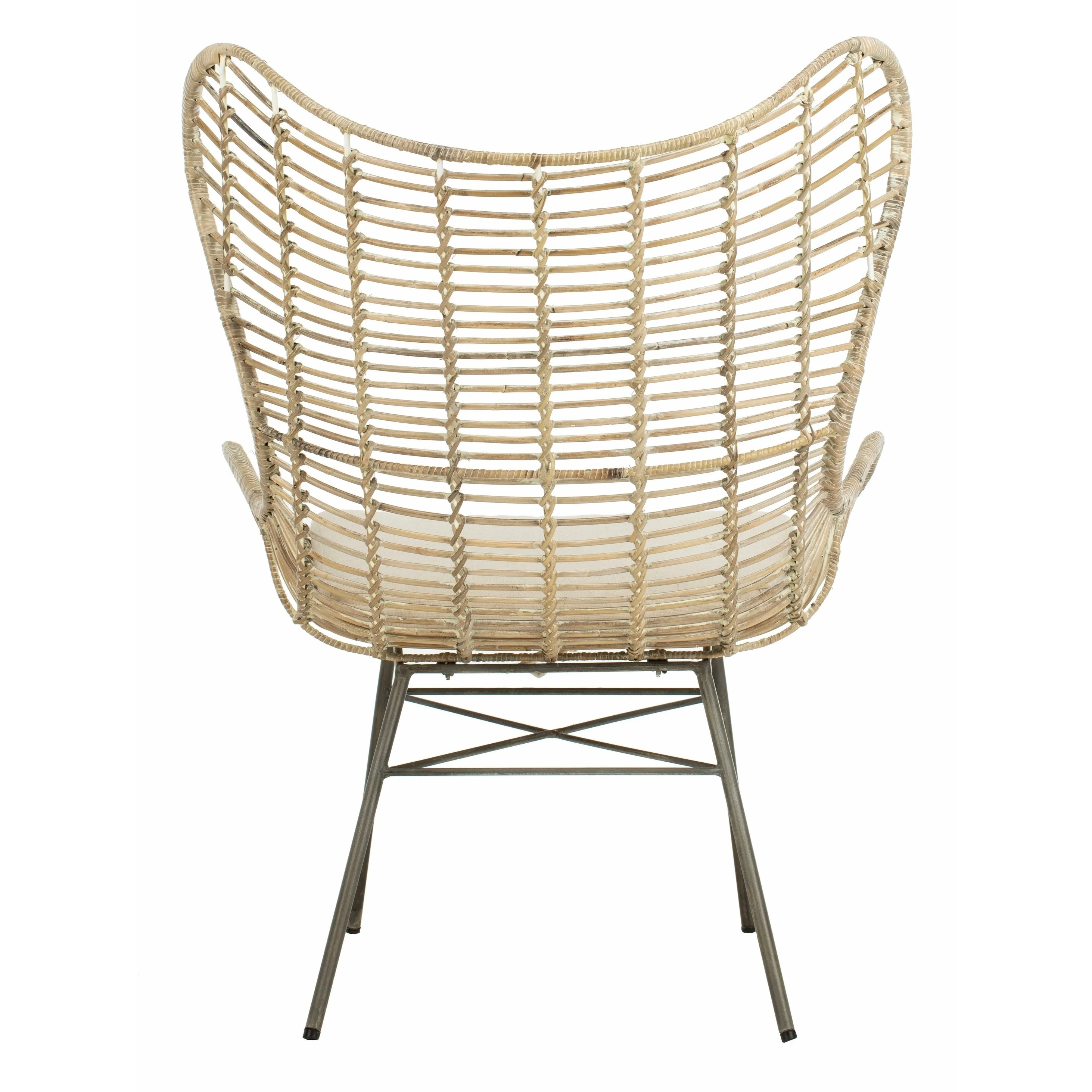rattan wingback chairs beach chair and umbrella shop safavieh malia armchair white washed on sale free shipping today overstock com 25772400