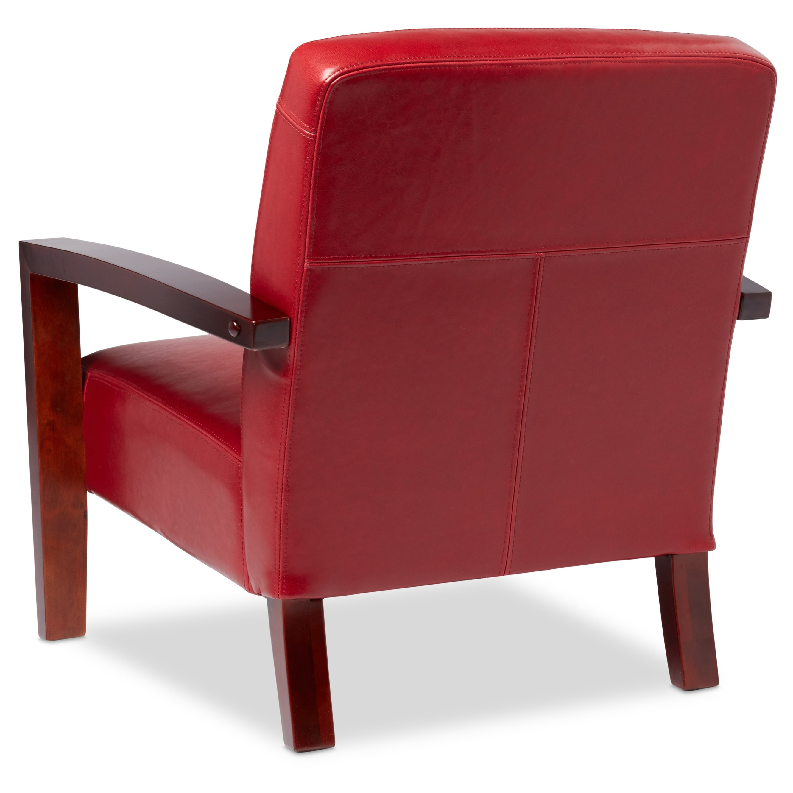 red lounge chair fishing with shade shop porch den roadster burnt leather free shipping today overstock com 2616449