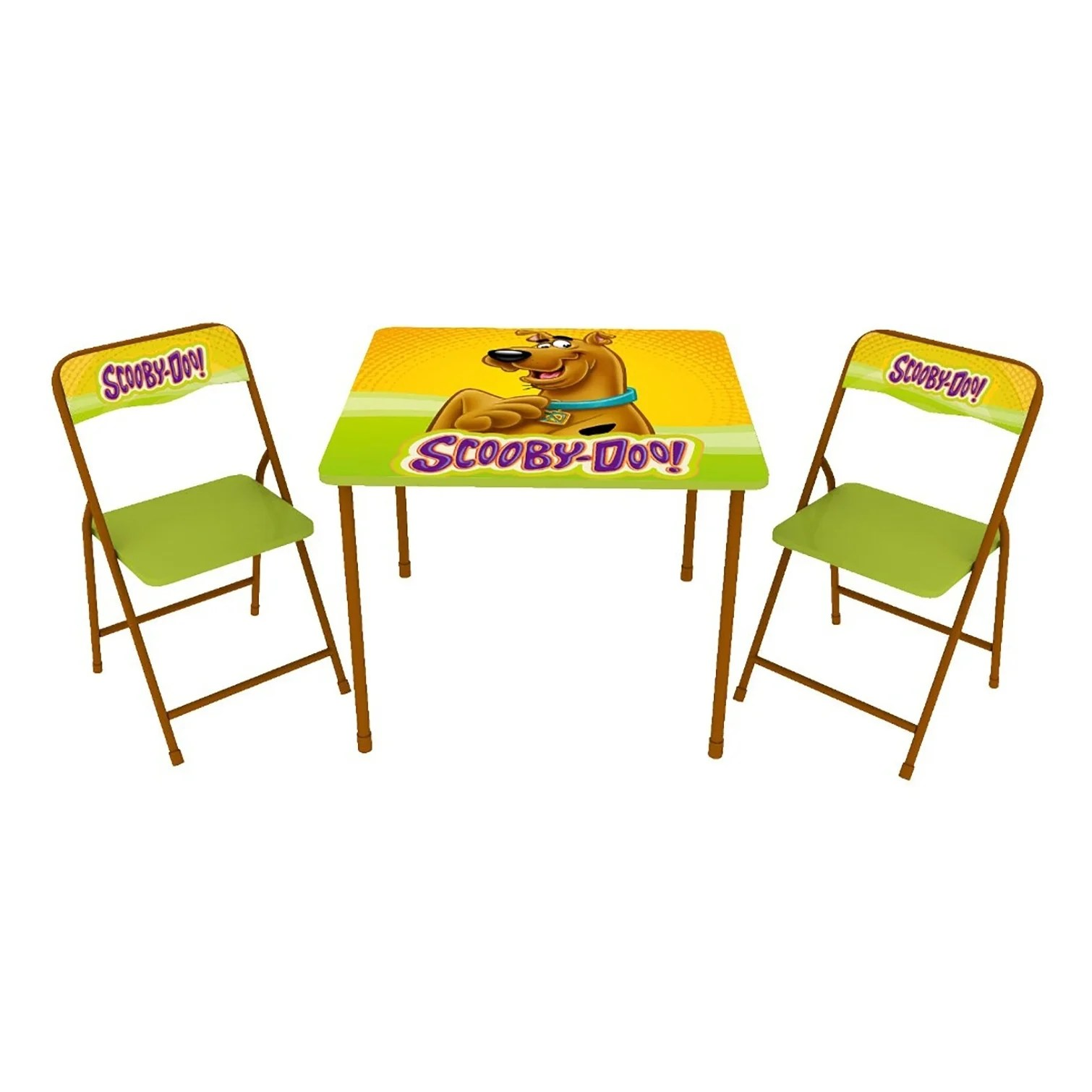 Childrens Folding Table And Chairs O Kids Scooby Doo 3 Piece Set Children S Metal Table And Chairs