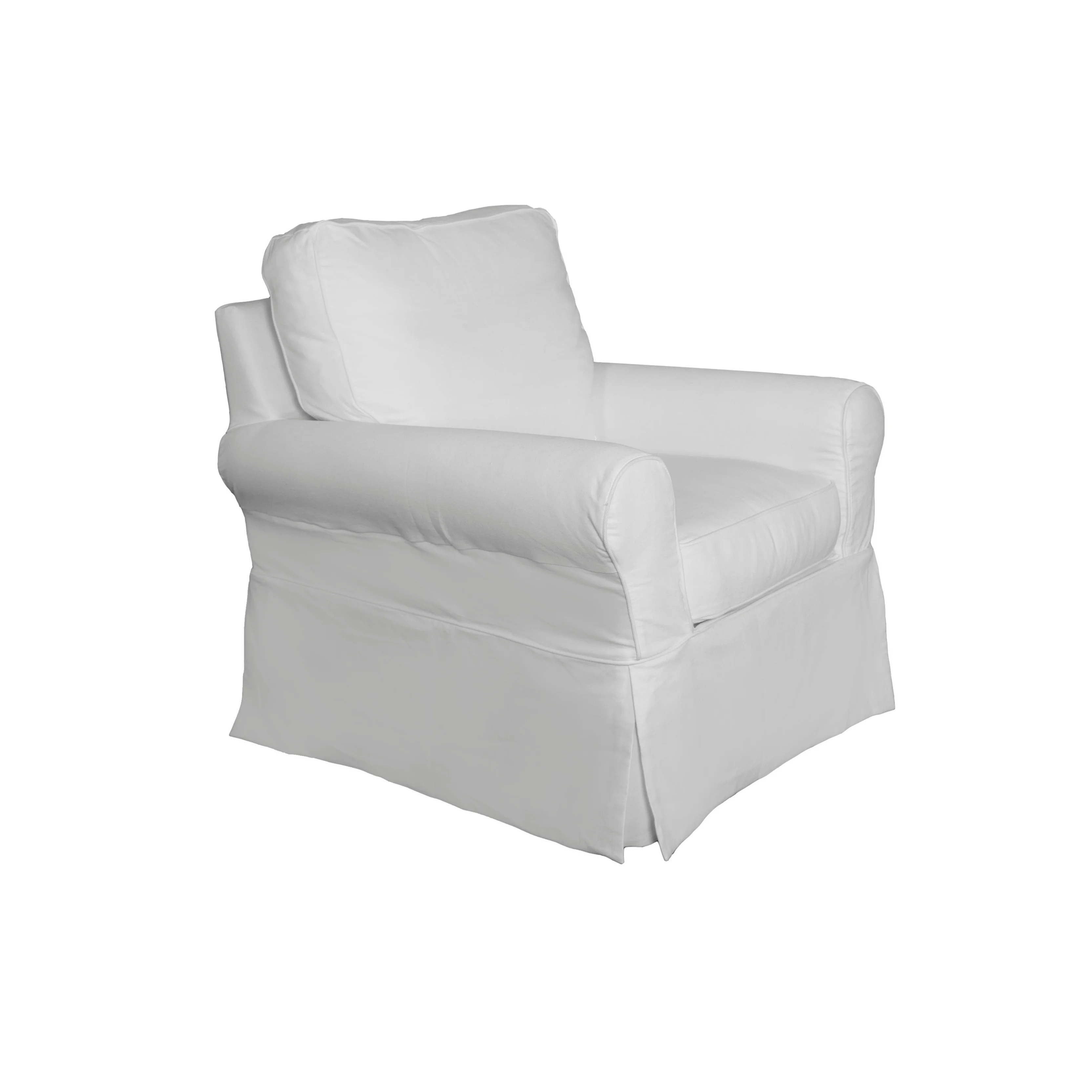 white slipcover chair and ottoman john lewis directors covers shop sunset trading horizon box cushion set performance
