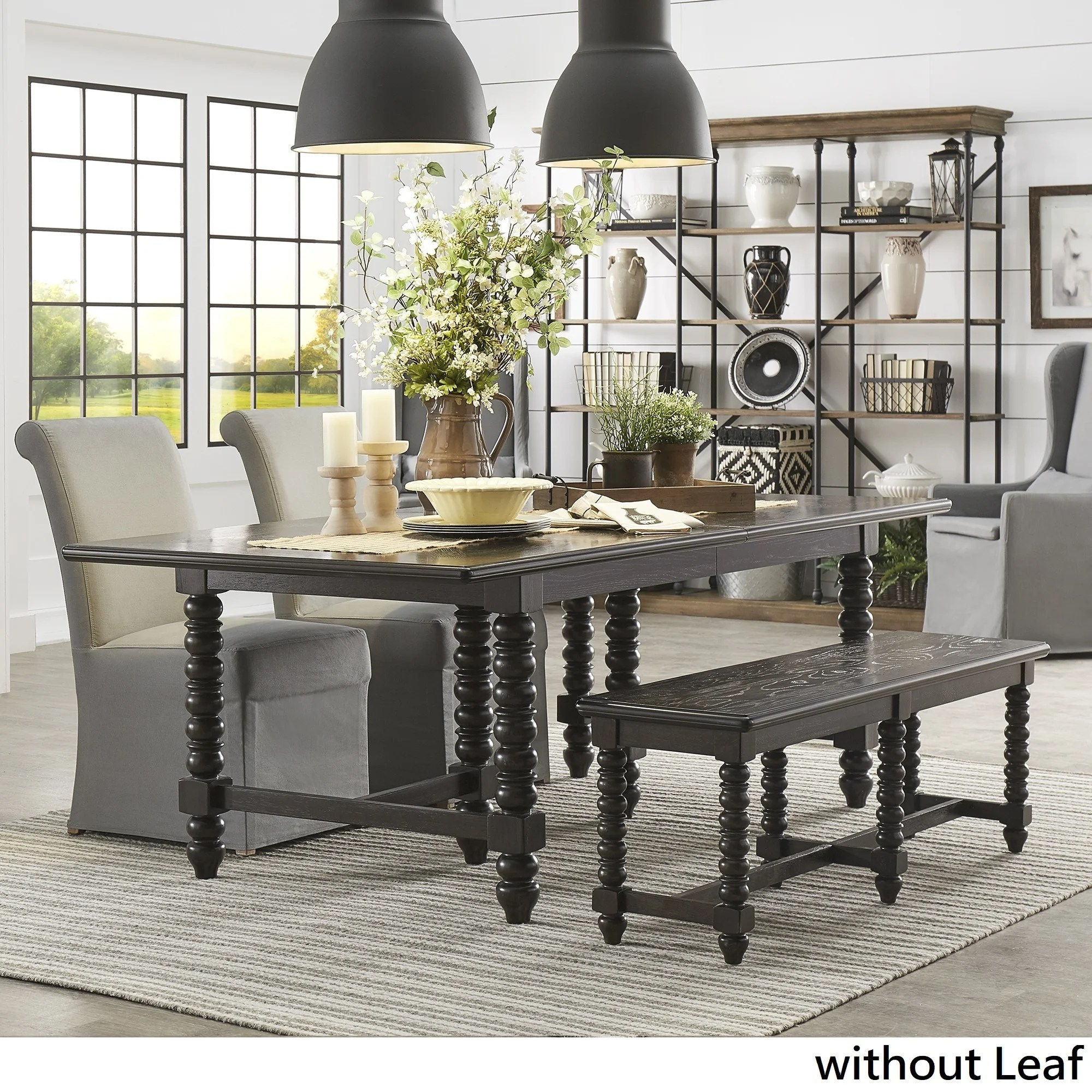 dark kitchen table personalized items shop vergamont espresso finish dining with 6 beaded legs by inspire q artisan