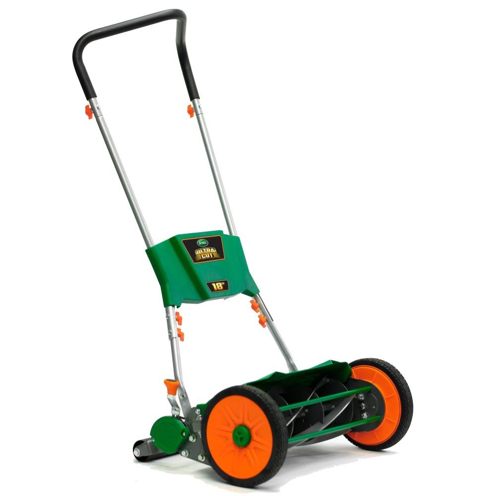 medium resolution of scotts ultra cut 18 in w manual push lawn mower