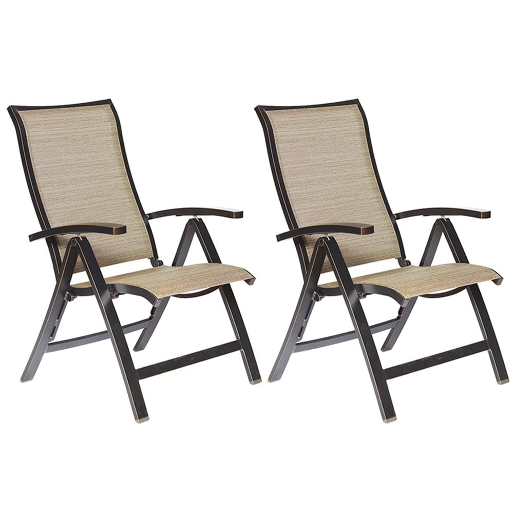 Patio Folding Chairs Dali Folding Chairs With Arm Patio Dining Chairs Cast Aluminum Outdoor Furniture 2 Pcs Set