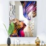 Shop Black Friday Deals On Designart Metaphorical Mind Painting Modern Mirror Wall Mirror Overstock 28022061