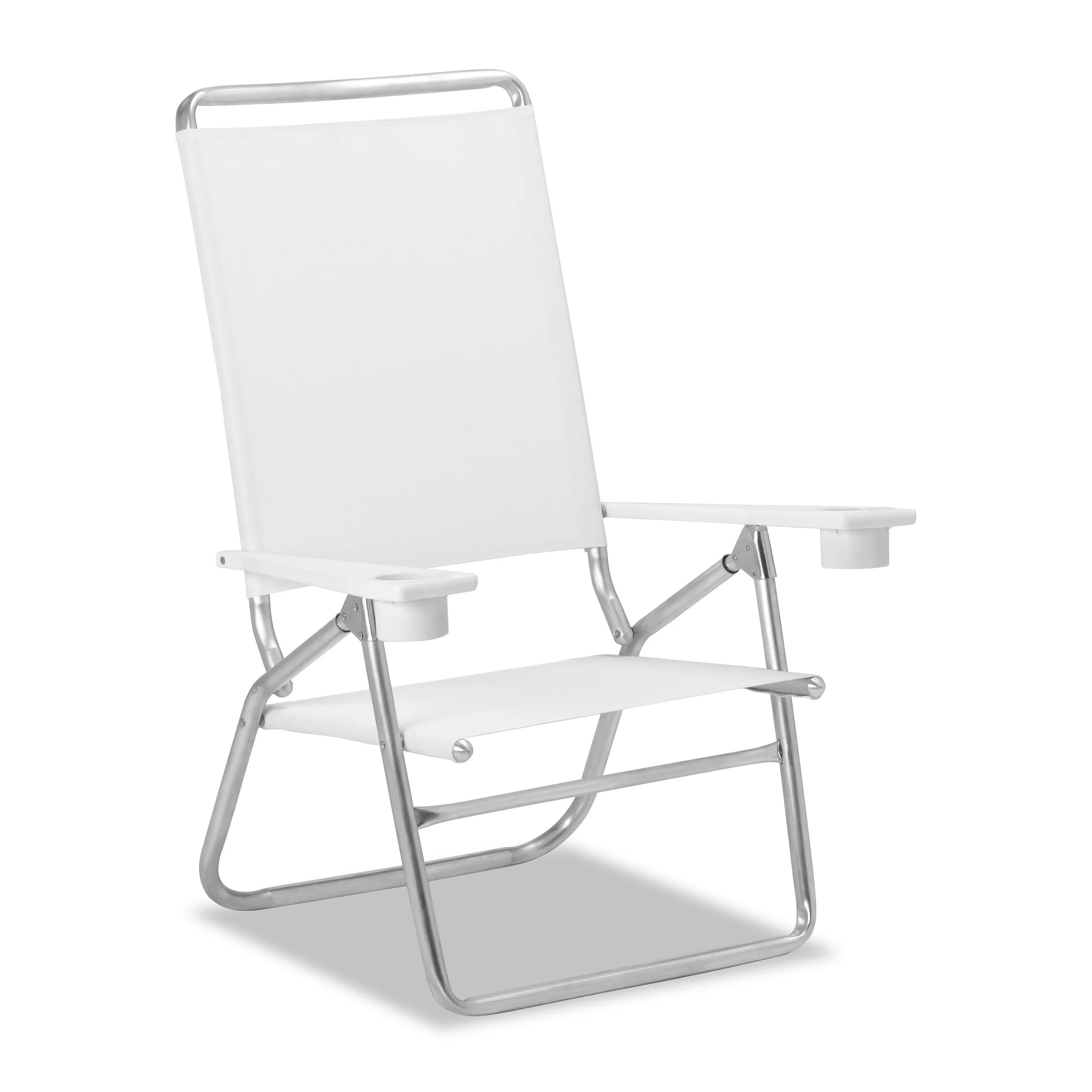 Telescope Beach Chair Telescope Casual Light N Easy High Boy Folding Beach Arm Chair With Marine Grade Polymer Arms White