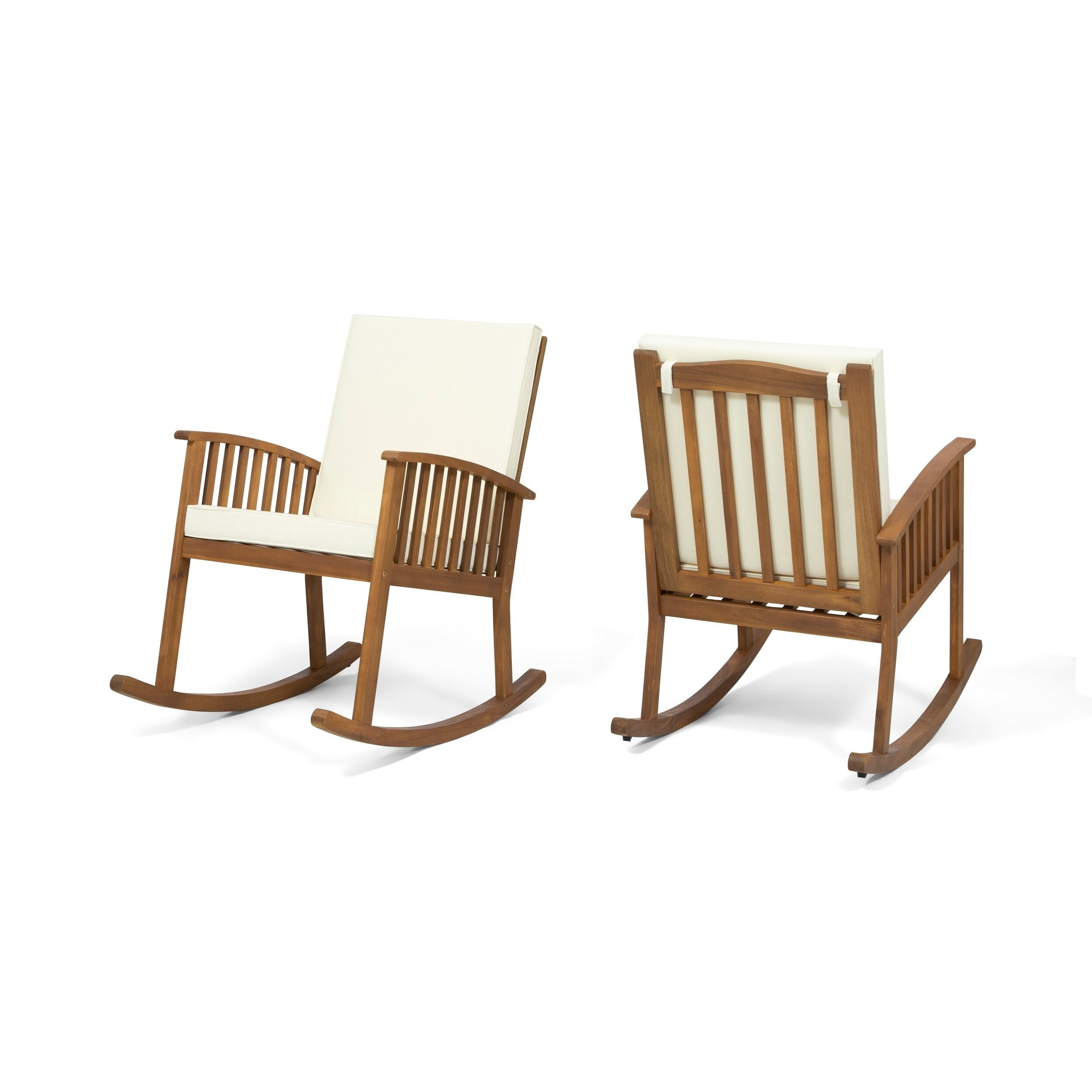 Outdoor Rocking Chair Set Casa Outdoor Acacia Wood Rocking Chairs Set Of 2 By Christopher Knight Home