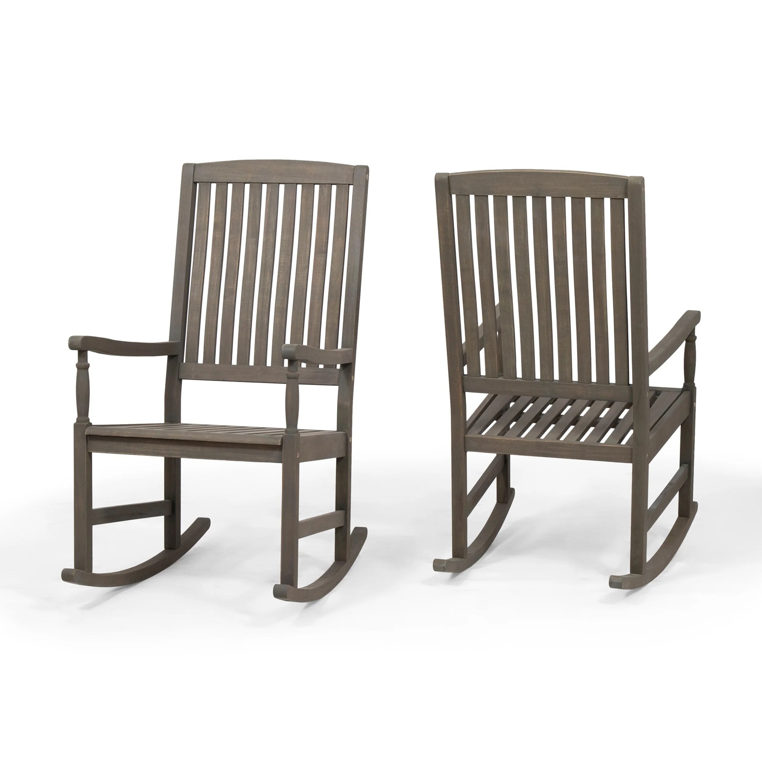 Outdoor Rocking Chair Set Arcadia Outdoor Acacia Wood Rocking Chairs Set Of 2 By Christopher Knight Home