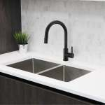 Shop Black Friday Deals On Solid Stainless Steel Sink Kitchen Faucet 1 Lever Handle Pull Down Spout Mixer Tap Matte Black Finish Kitchen Sink Faucet Overstock 30533575
