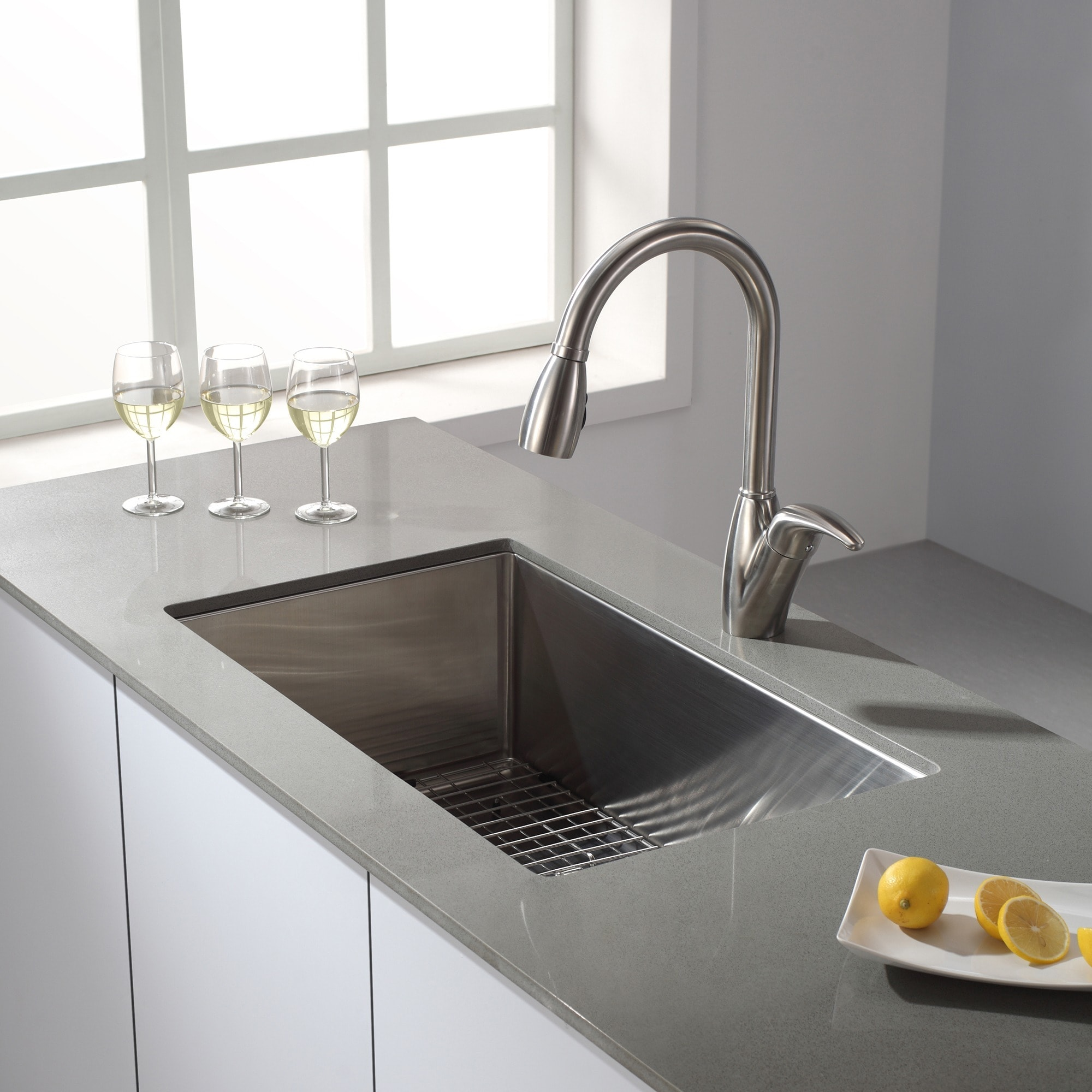 30 kitchen sink booth seating shop kraus khu100 standart pro undermount inch 16 gauge single bowl satin stainless steel on sale free shipping today overstock com