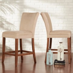 Upholstered Counter Height Chairs Folding Lounge Chair Canadian Tire Shop Parson Classic High Back Set Of 2 By Inspire Q Bold