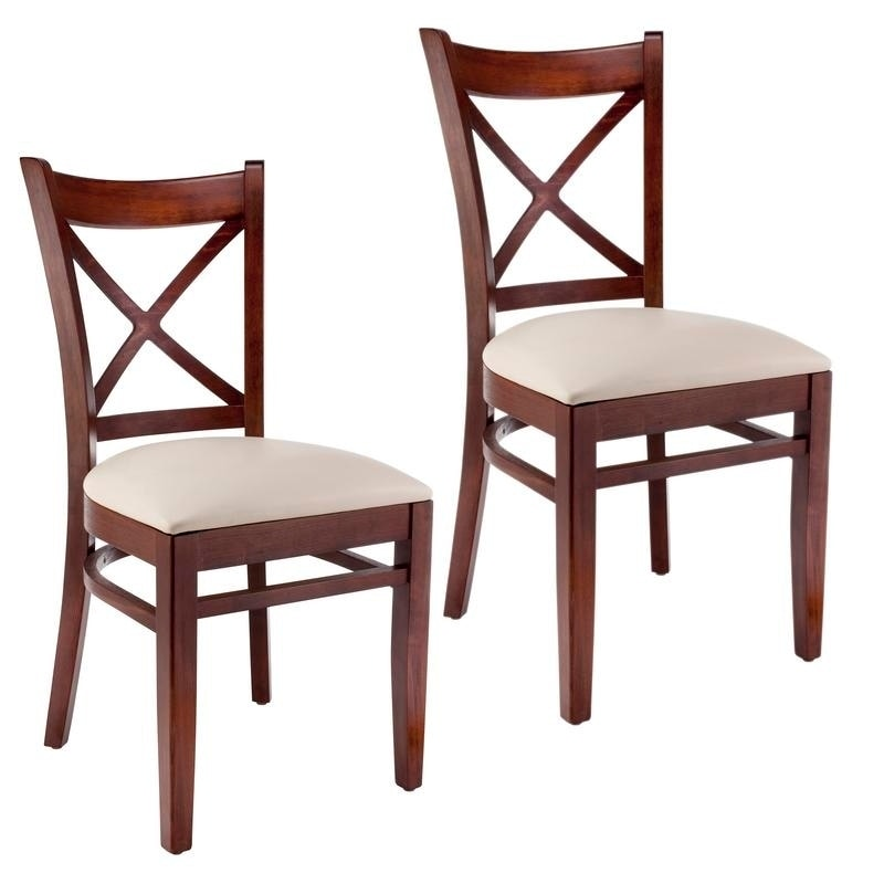 x back chairs plastic chair covers target shop dining set of 2 free shipping today