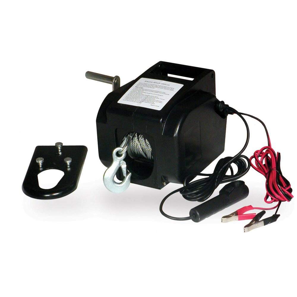 medium resolution of portable 2000 pound 12 volt winch
