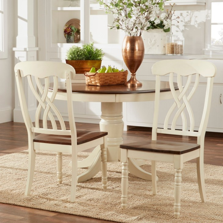 Mackenzie Country Style Two-tone Dining Chairs (Set of 2) by iNSPIRE Q  Classic