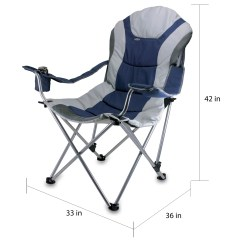 Folding Sports Chair High Reviews Shop Picnic Time Navy Reclining 3 Position Camp Free