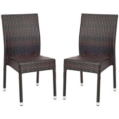 Stackable Outdoor Chairs Folding Chair With Desk Shop Safavieh Hamptons Bay Wicker Set Of 2