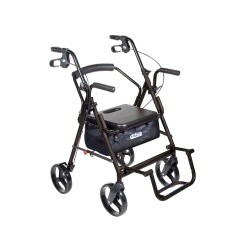 Transport Wheel Chair Office With Back Support Cushion Shop Drive Duet Aluminum Wheelchair Rollator Walker Free Shipping Today Overstock Com 5274661