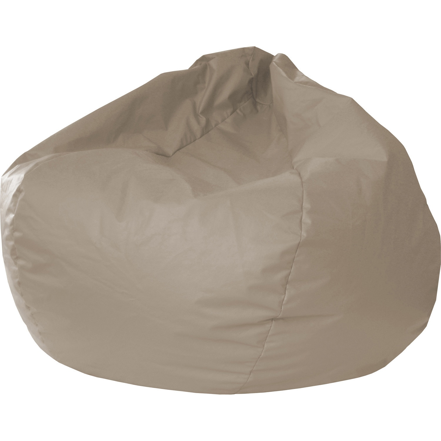 Bean Bags Chair Gold Medal Jumbo Leather Like Vinyl Round Bean Bag Chair