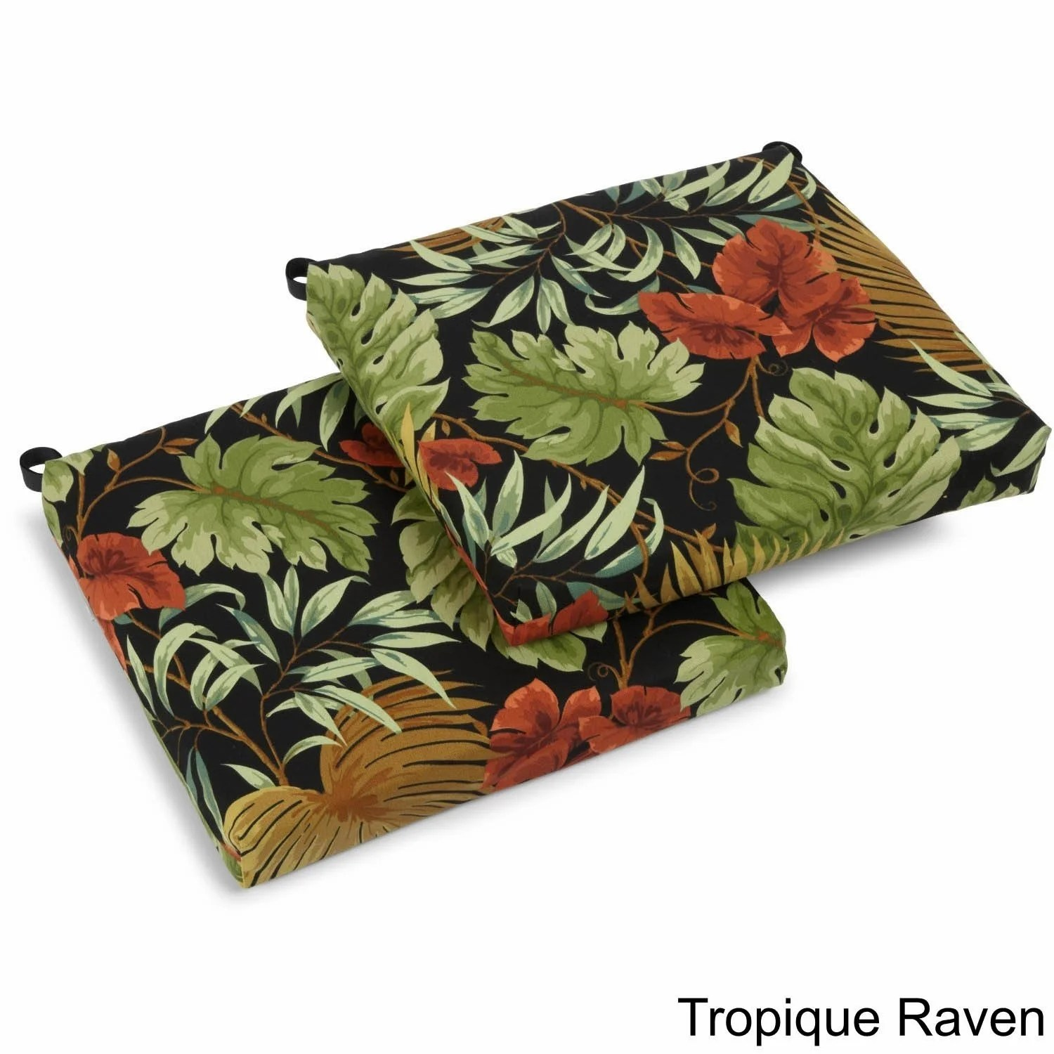 Patio Chair Cushions Cheap Blazing Needles 20 Inch Designer All Weather Patio Chair Cushion Set Of 2 20 X 20