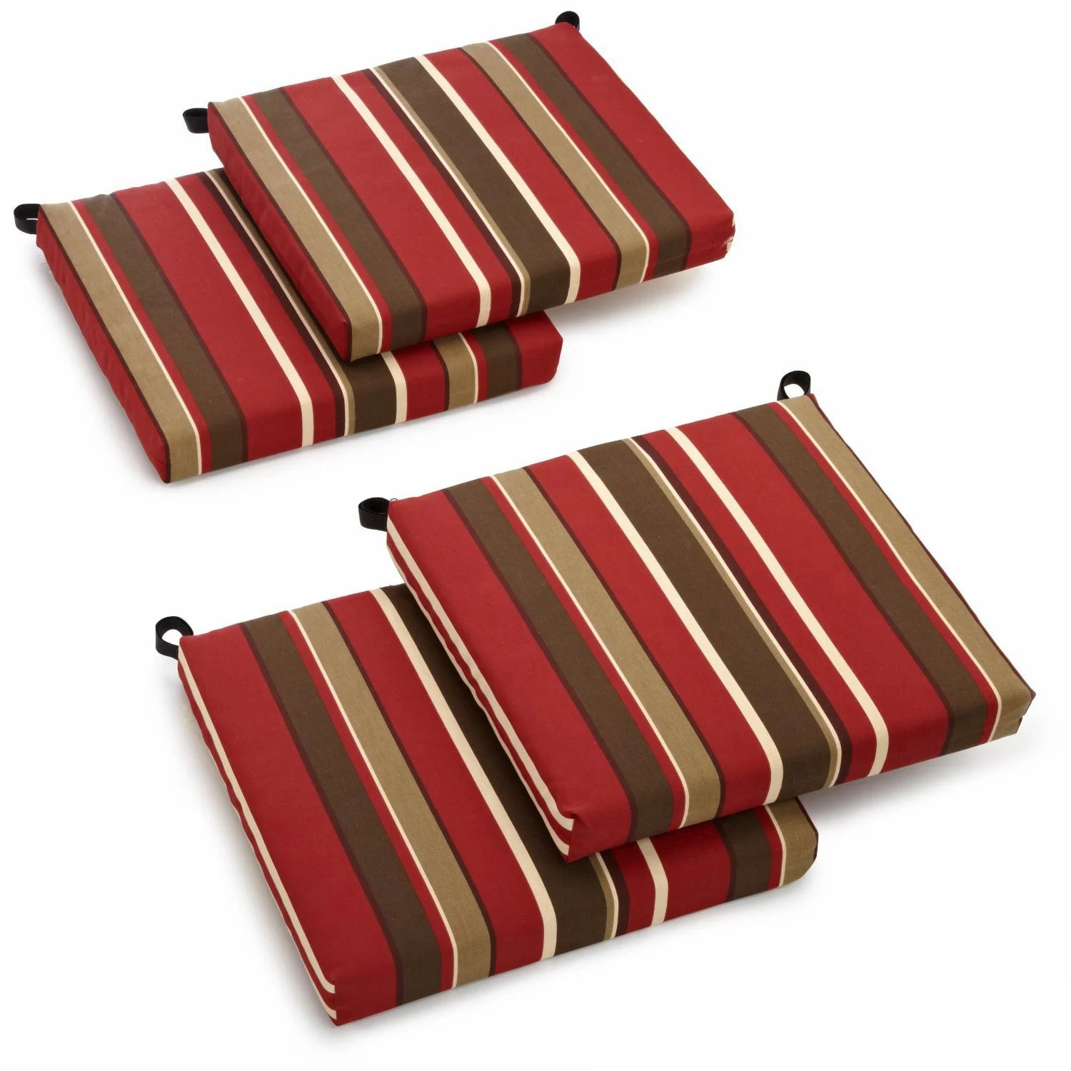 Patio Chair Cushions Cheap Blazing Needles All Weather Outdoor Patio Chair Cushion Set Of 4