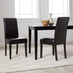 Faux Leather Dining Chairs Hanging Chair Holder Shop Villa Set Of 2 Free Shipping