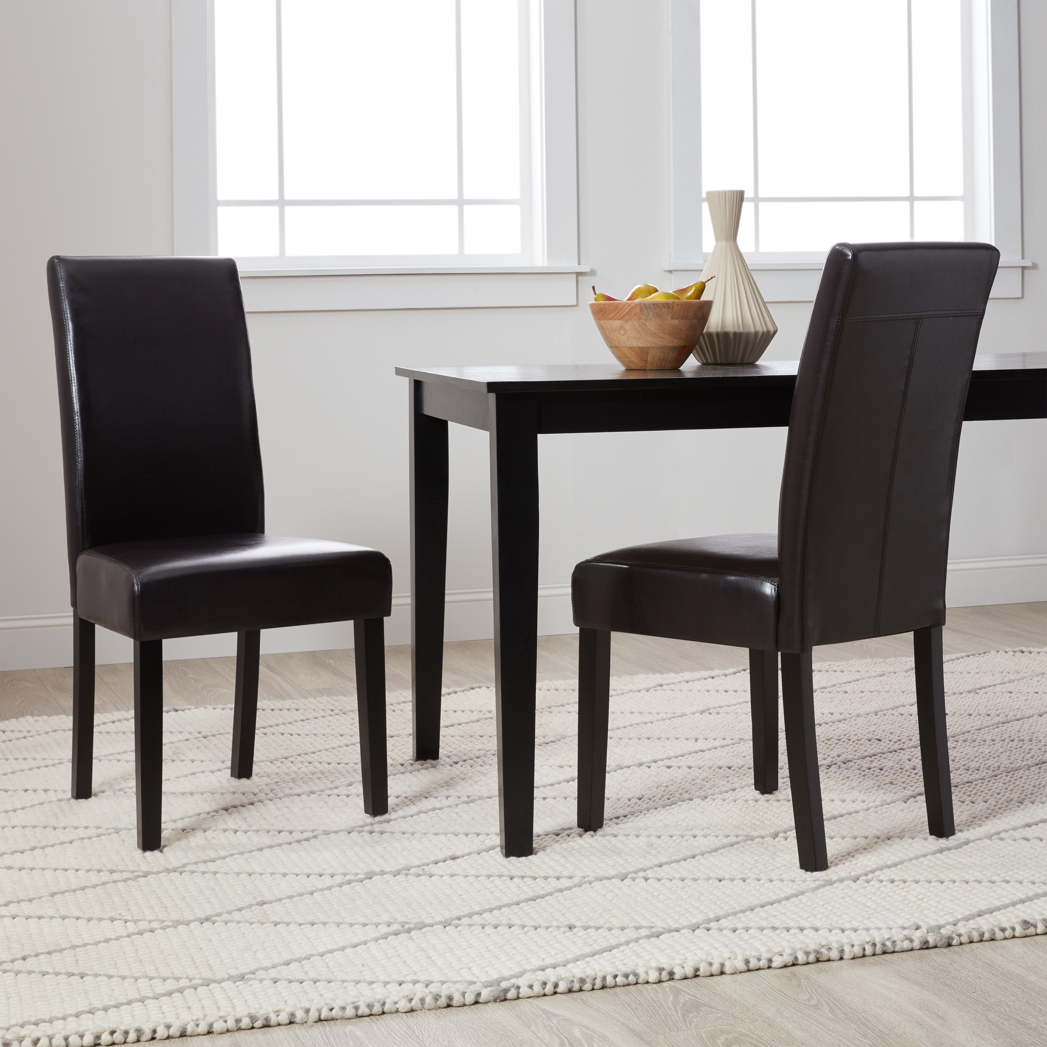 Dining Chair Set Of 2 Villa Faux Leather Dining Chairs Set Of 2