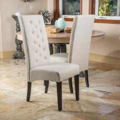 Tall Back Dining Chairs Roman Lounge Chair Shop Natural Fabric Set Of 2 By Christopher Knight Home