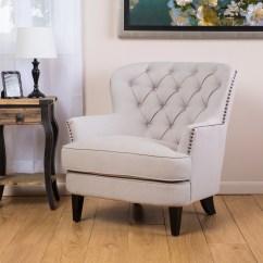 Tafton Club Chair Wheel Sri Lanka Shop Christopher Knight Home Tufted Natural Fabric