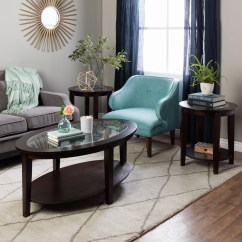 3 Piece Table Set For Living Room Informal Decorating Ideas Shop Copper Grove Oval Free Shipping Today