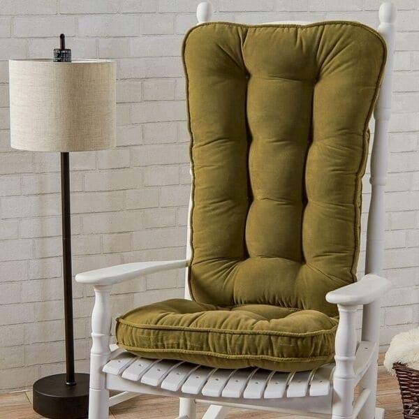 rocking chair pad sets vintage glider shop greendale home fashions moss hyatt jumbo cushion set free shipping today overstock com 6130748