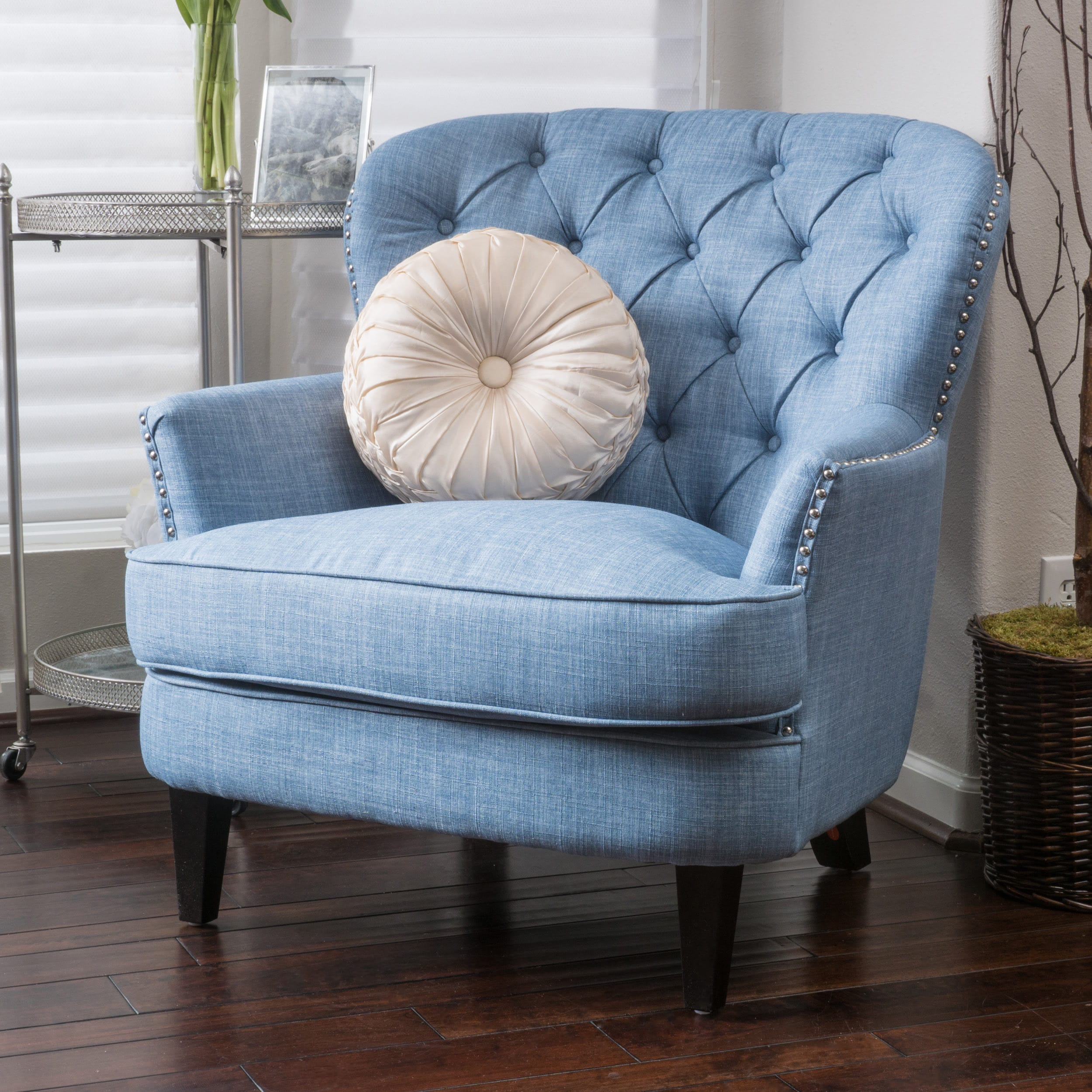 teal club chair cover rentals las cruces nm shop tafton tufted oversized fabric by christopher knight home