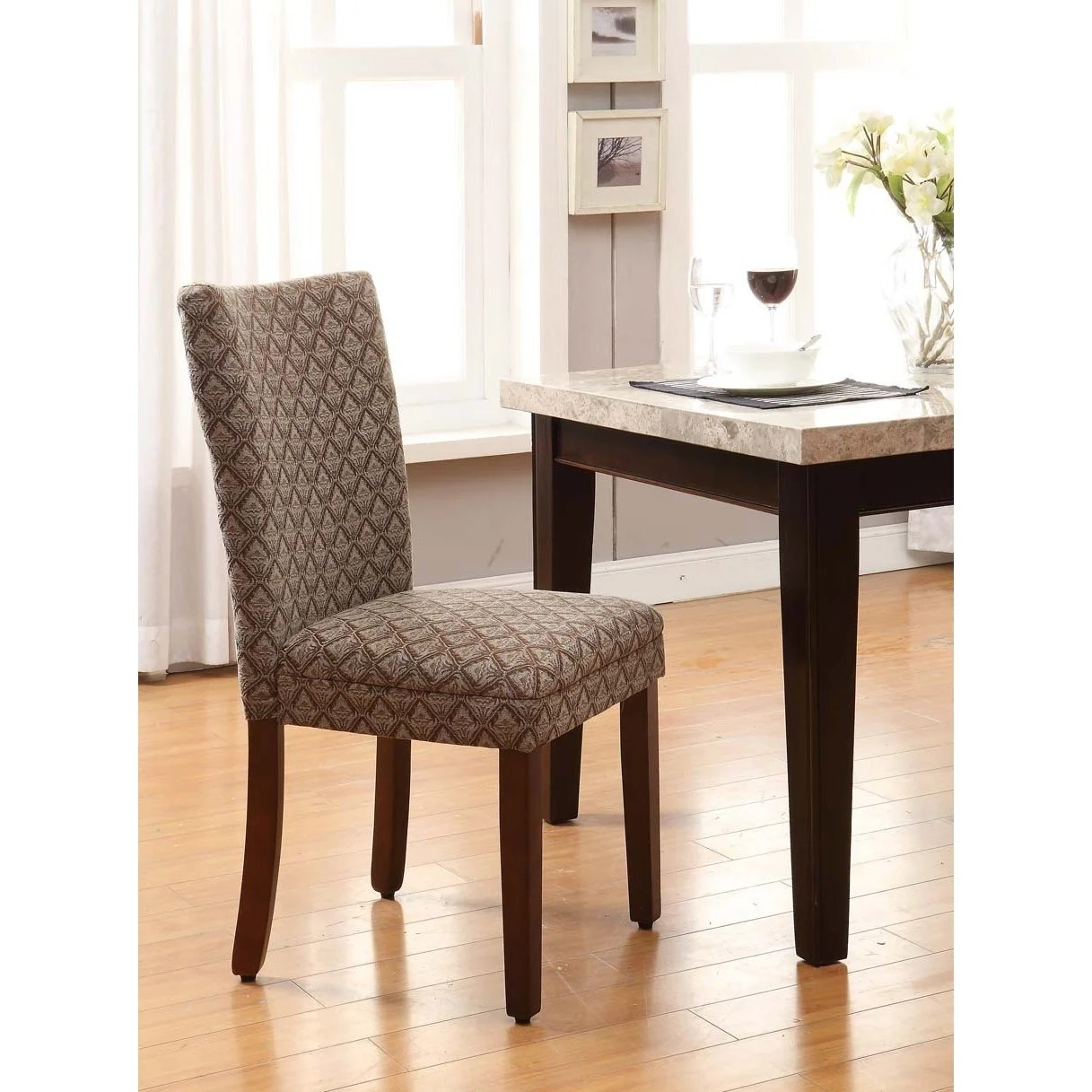 Damask Chair Copper Grove Quince Blue Chocolate Damask Diamond Fabric Dining Chair