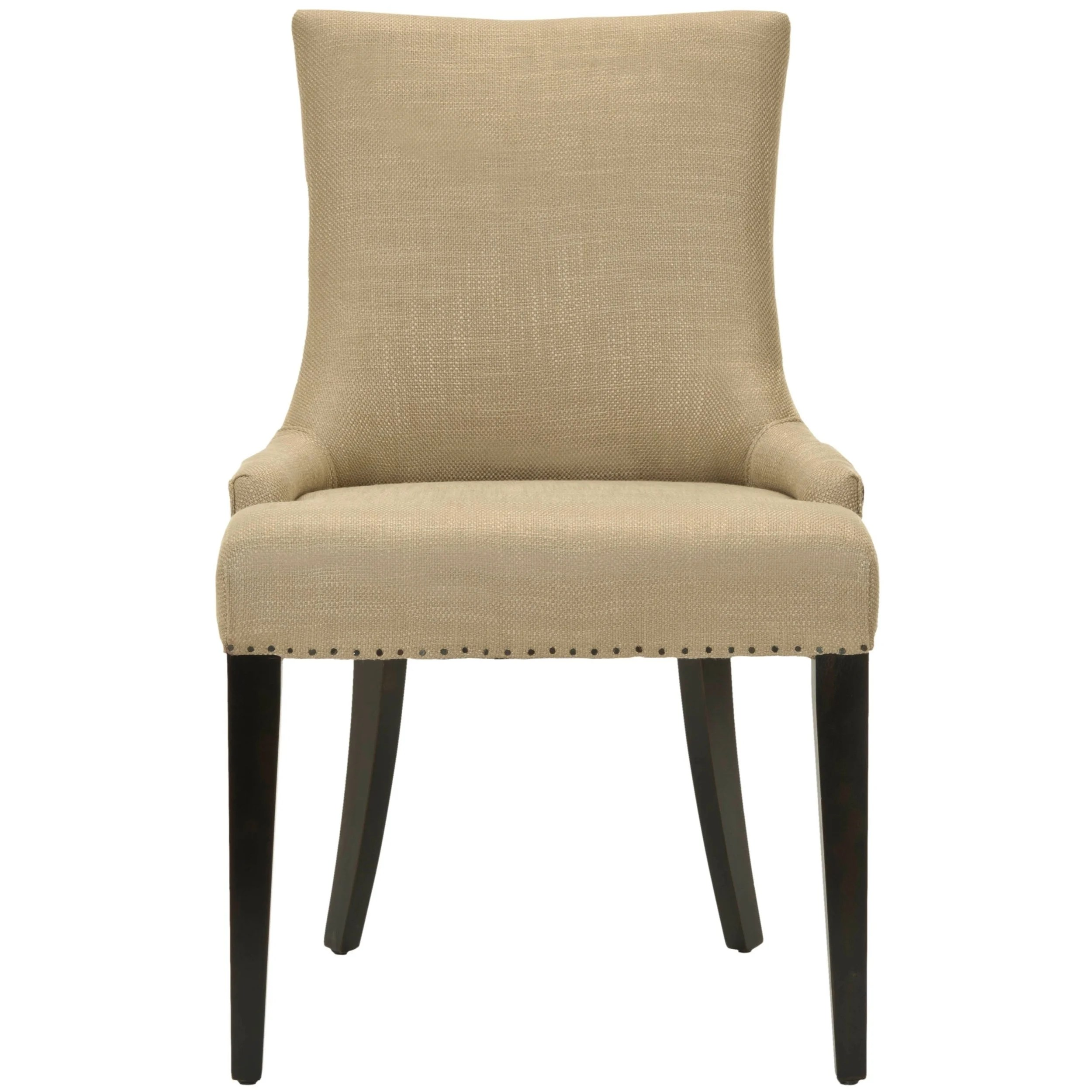 Beige Leather Dining Chairs Safavieh En Vogue Dining Becca Beige Viscose And Leather Back Dining Chair