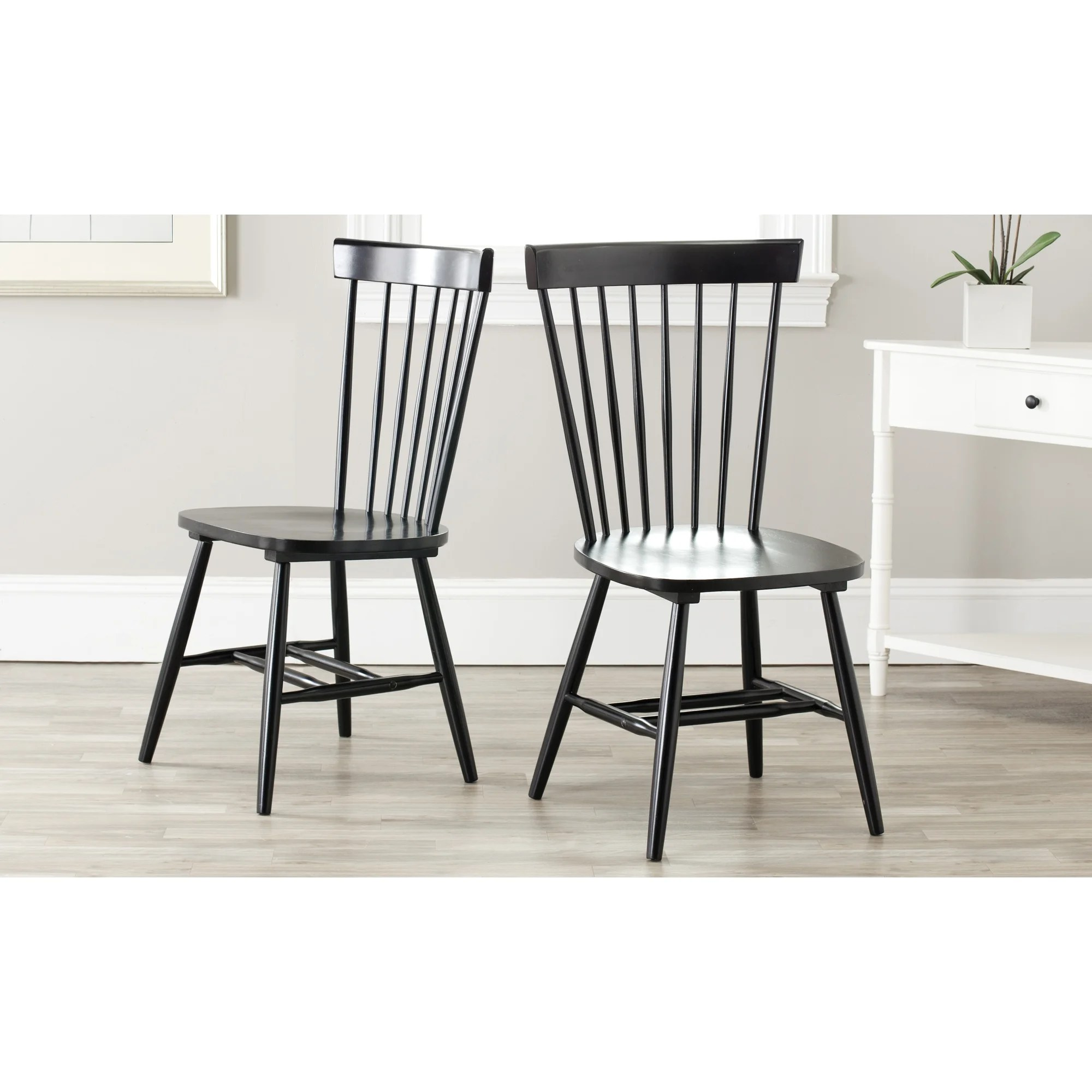 Windsor Chairs Black Safavieh Country Classic Dining Country Lifestyle Spindle Back Black Dining Chairs Set Of 2