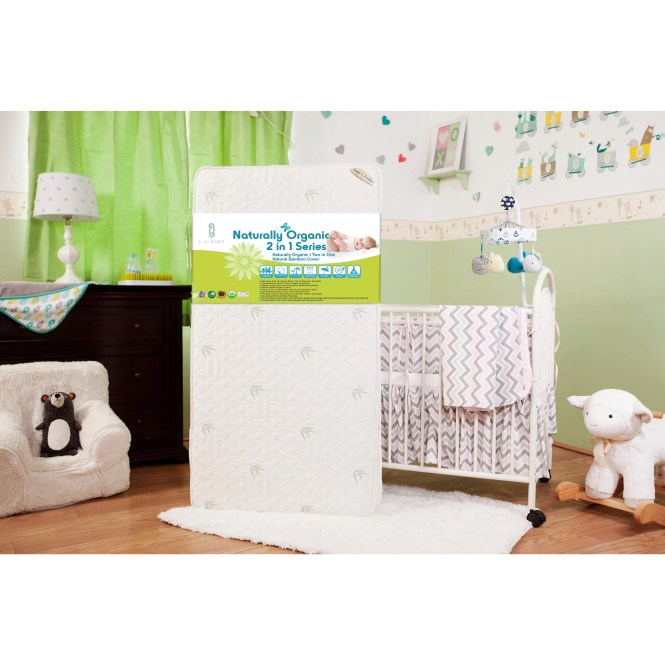 Natural I 2 In 1 Crib Mattress With Coconut Fiber Cotton Layer And Blended Viscose From Bam Free Shipping Today 14058916