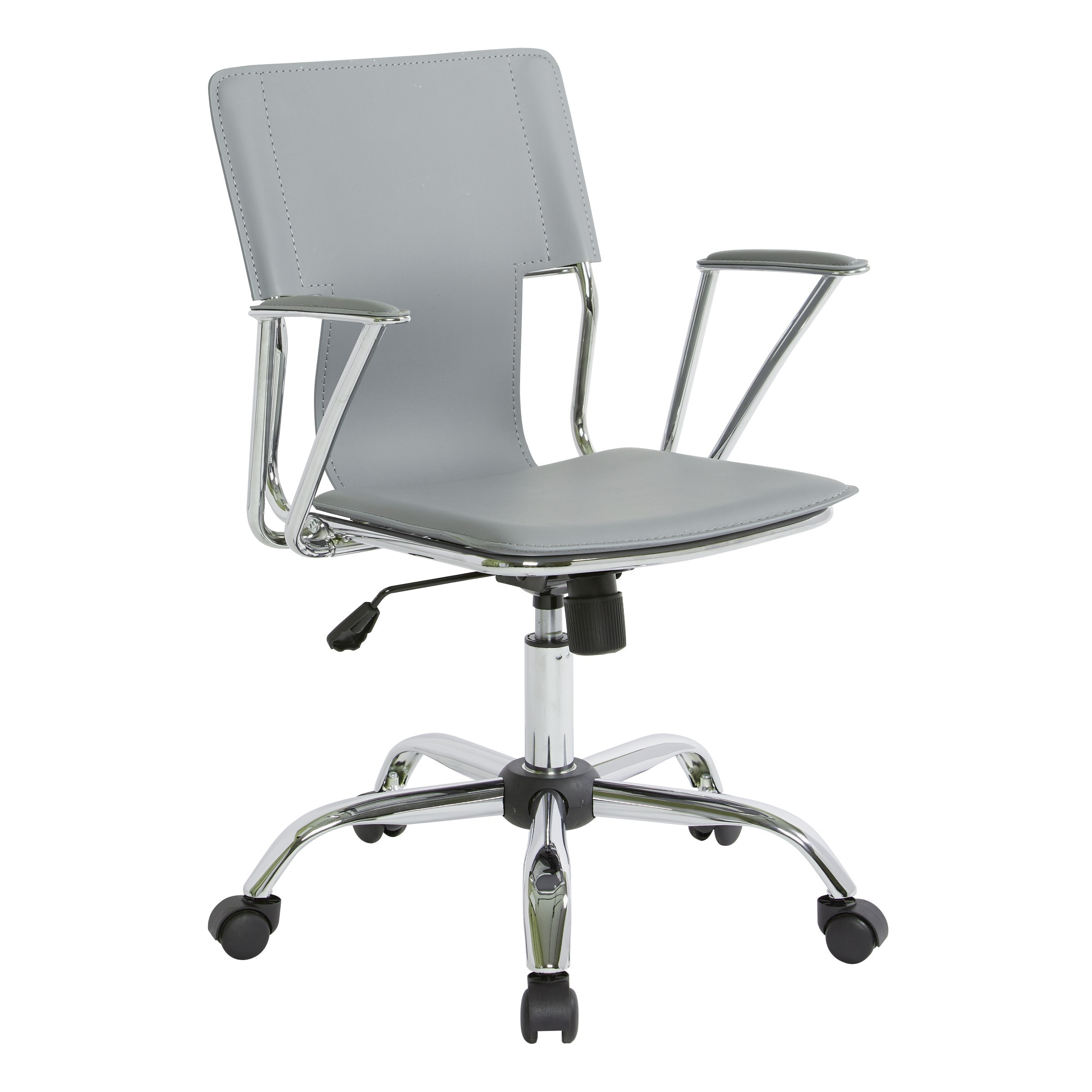 dorado office chair two seater chairs shop osp home furnishings with fixed padded arms and chrome finish free shipping today overstock com 6468399