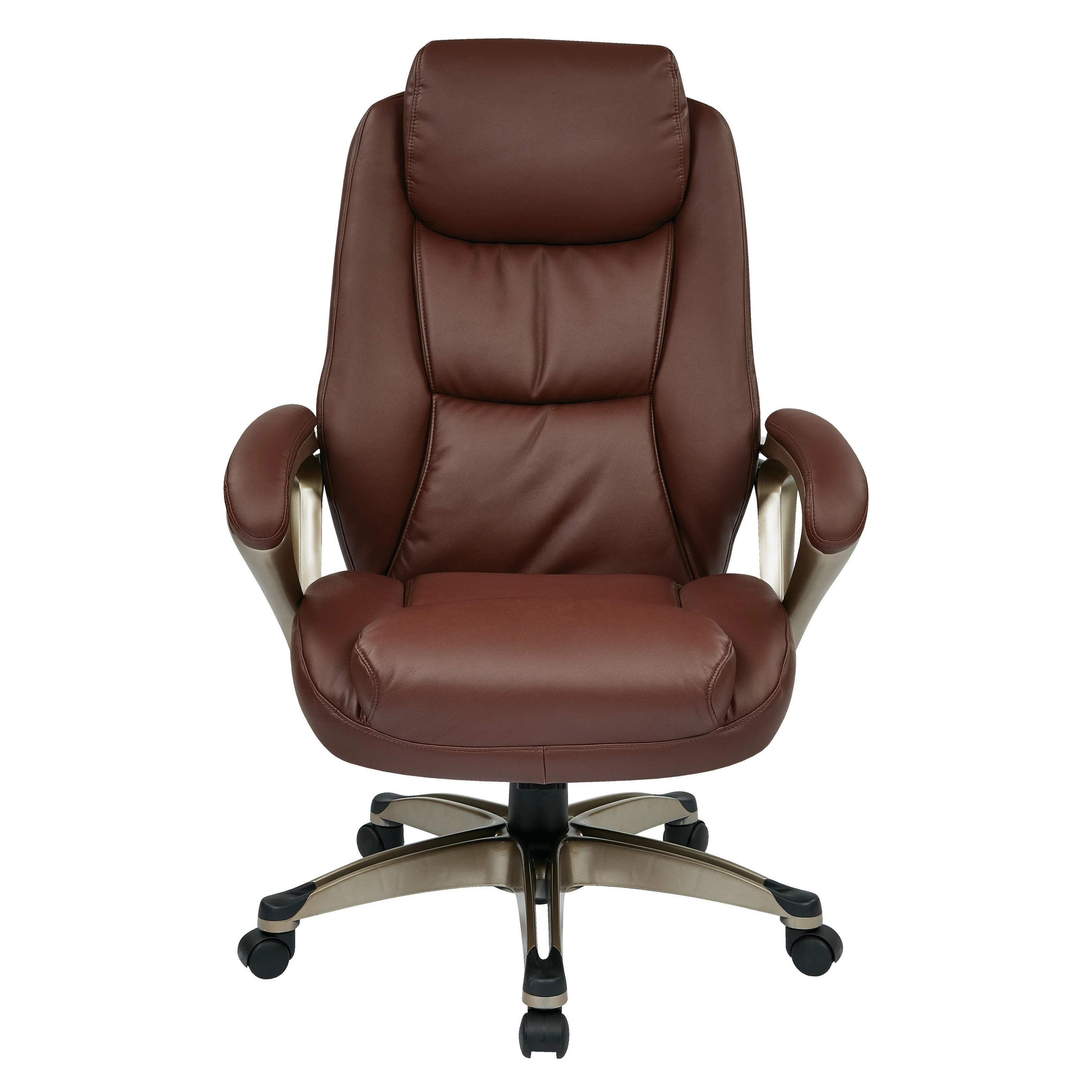 Spring Chair Office Star Executive Bonded Leather Chair With Coil Spring Seat