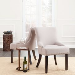 Safavieh Dining Chairs Sears Canada Chair Covers Shop En Vogue Loire Linen Nailhead Espresso Set Of 2
