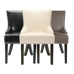 Safavieh Dining Chairs Swivel Chair For Hunting Shop Loire Leather Nailhead Set Of 2 On