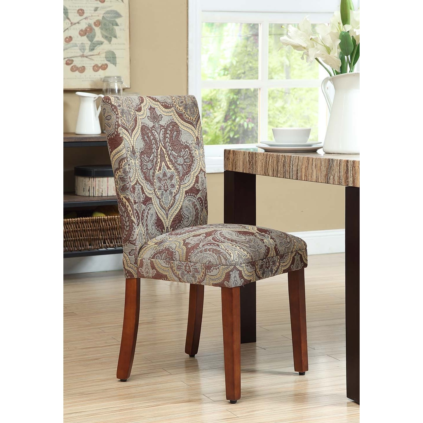 parson chairs tempur pedic tp9000 ergonomic mesh mid back executive chair black shop homepop blue and brown paisley set of 2 on