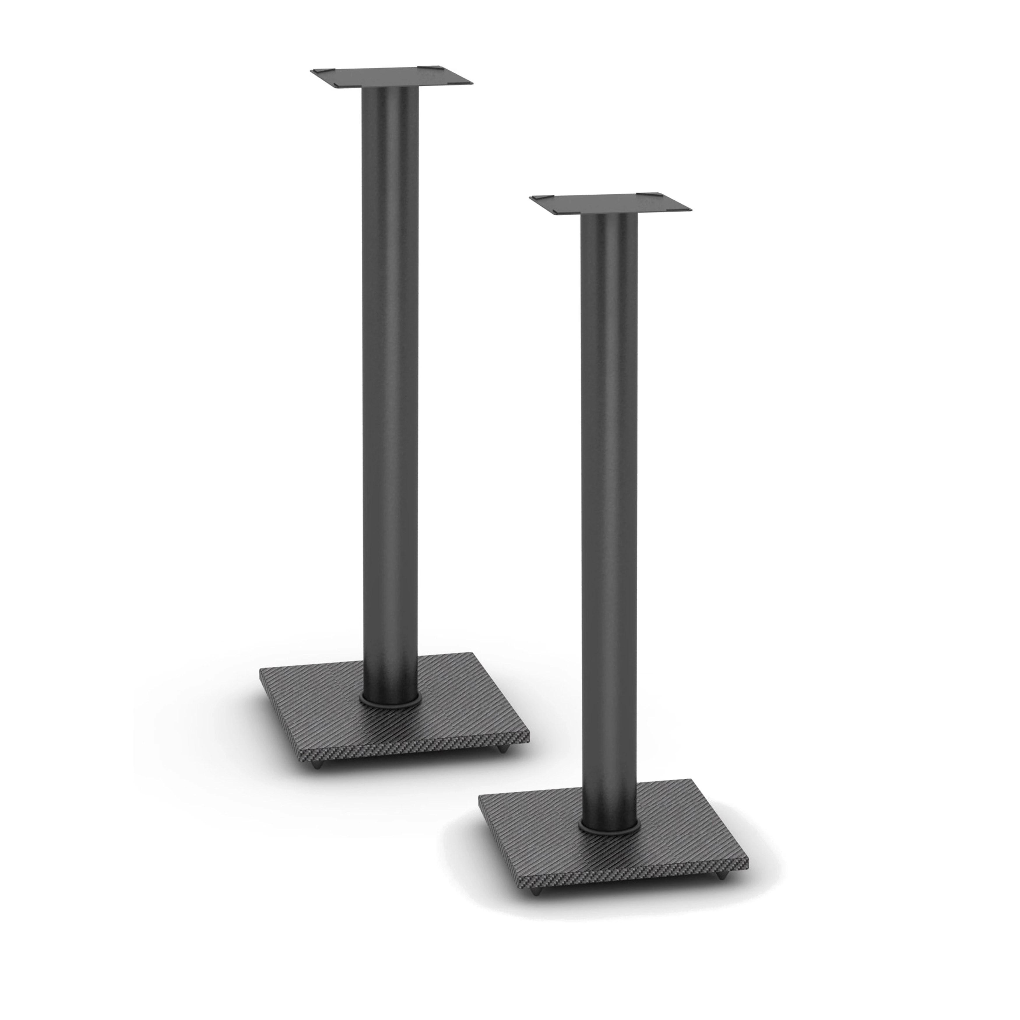 atlantic adjustable bookshelf black speaker stands (set of 2) - free