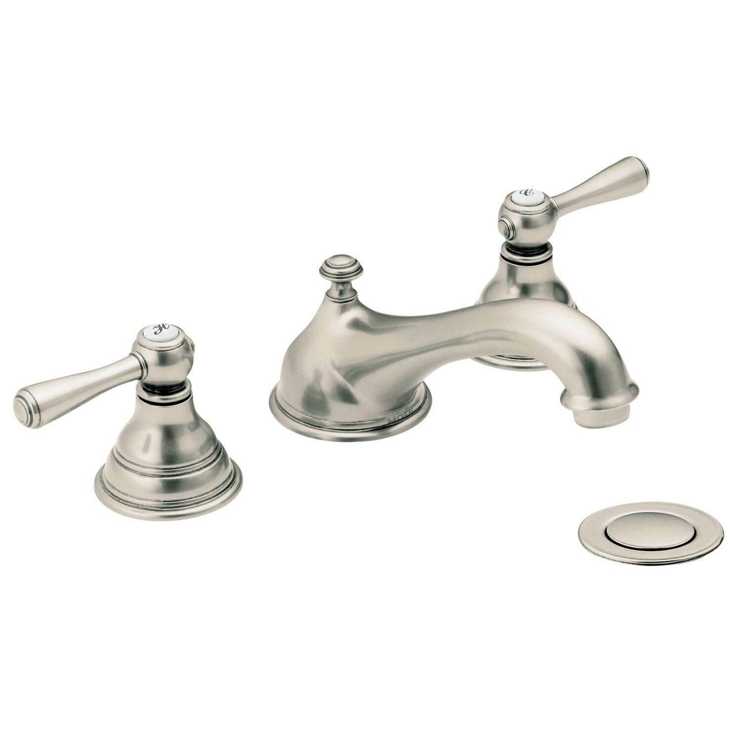 Moen Kingsley Bathroom Faucet Moen T6105an Kingsley 2 Handle Low Arc Antique Nickel Bathroom Faucet