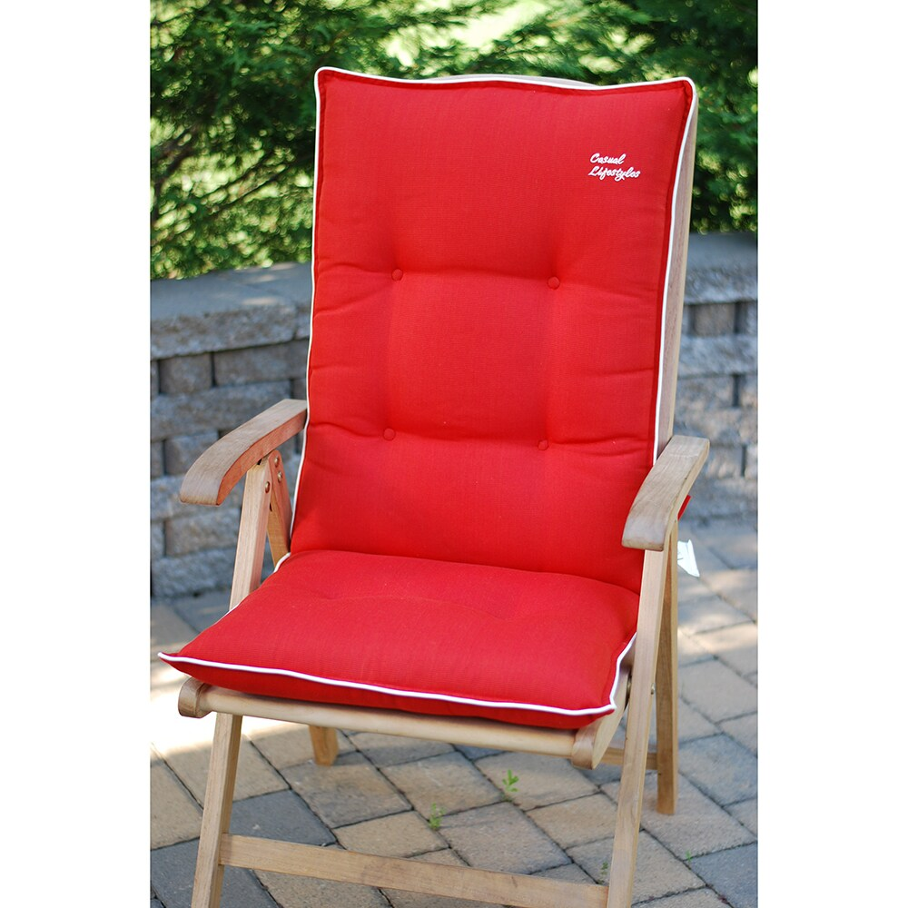 patio chair pads wood office chairs shop red high back recliner cushions set of 2 free shipping today overstock com 6649632