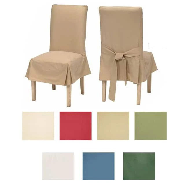 dining chair slipcover papasan accessories shop classic cotton duck slipcovers set of 2 free