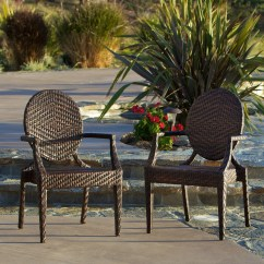 Woven Outdoor Chair Pad Covers For Sale Shop Adriana Pe Wicker Chairs Set Of 2 By Christopher Knight Home