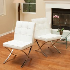 White Leather Chairs Dining How To Clean A Chair Shop Milania Set Of 2 By Christopher Knight Home