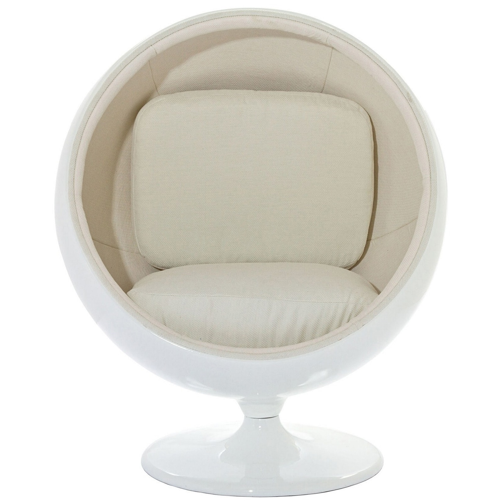 Kids Ball Chair Eero Aarnio Style Kids Ball Chair In White
