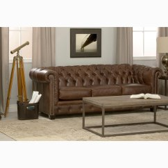Tufted Brown Leather Sofa Full Grain Uk Shop Hancock Chesterfield On Sale Free