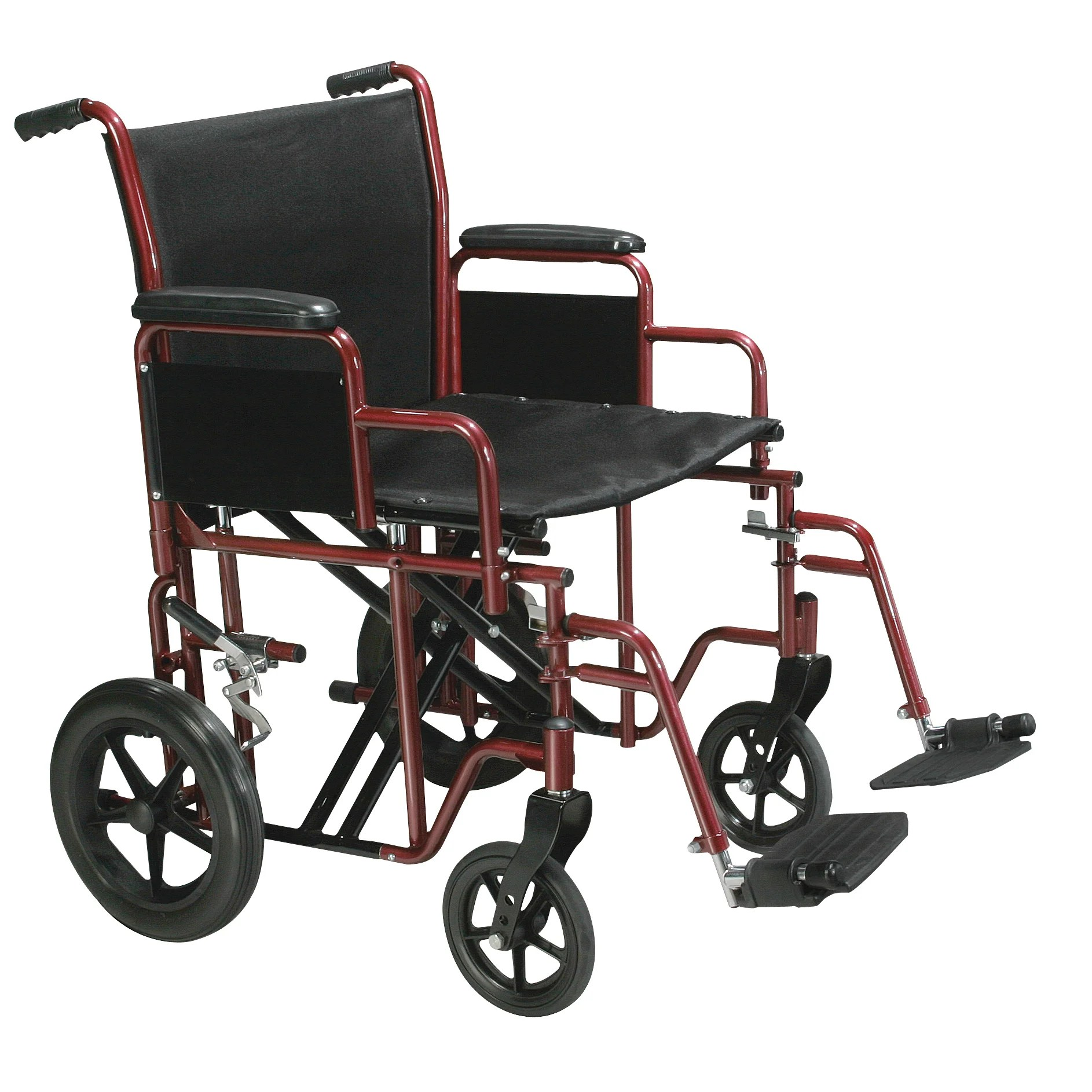 drive wheel chair folding trolley shop medical bariatric heavy duty transport wheelchair with swing away footrest free shipping today overstock com 7263552