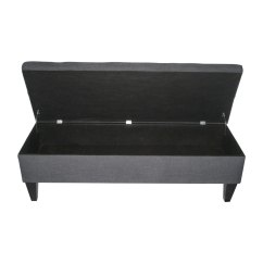 Loft Charcoal Sofa Bed In Living Room Modern Shop Brooke Button Tufted Storage Bench On Sale Free Shipping Today Overstock Com 7278928